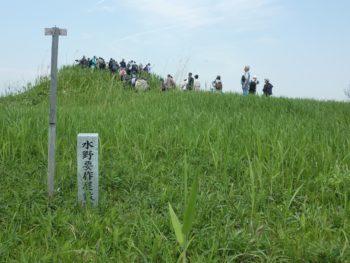 土盛りされ小高くなっている水野要作屋敷跡